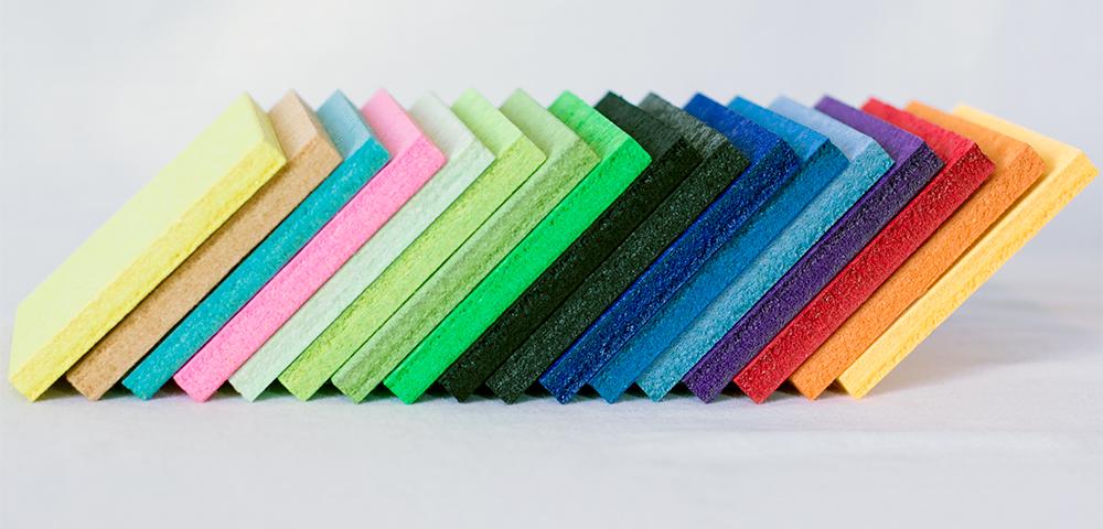 colores de panel acústico de fibra de poliéster