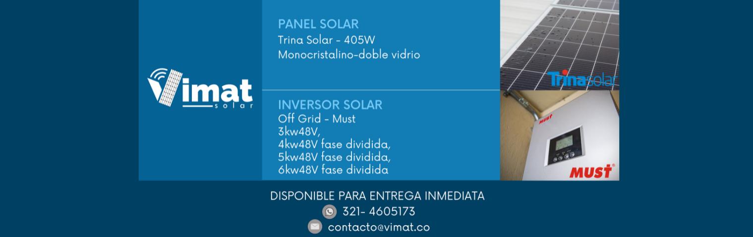 Panel solar 405w-inversor Off grid Must